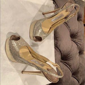 Jimmy Choo platform sandal - silver gold -